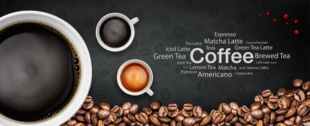 coffee illustration abstract and background Stock Photo