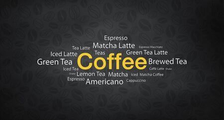 koffie illustratie abstract en achtergrond