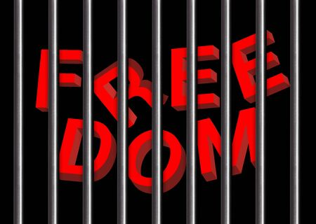 jail: freedom with jail bars Background and illustration