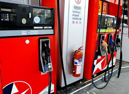 filling: Chiang Rai, Thailand - August 22, 2015  Caltex filling station Editorial