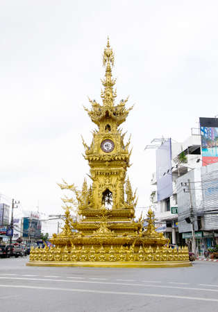 Chiang Rai, Thailand - August 22, 2015 Clock tower
