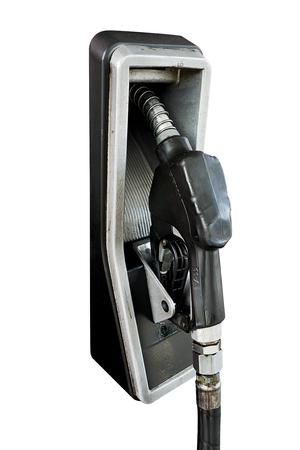nozzle: Fuel nozzle with white background Stock Photo
