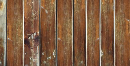 wood table and wood wall background Stock Photo