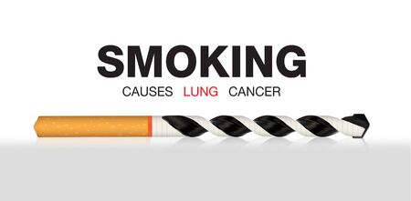 causes: smoking causes lung cancer illustration