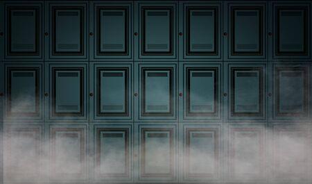 locker: Abstract locker wall background Stock Photo