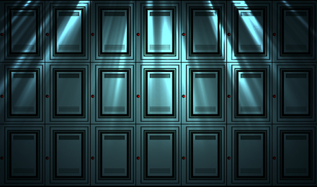 secured: Abstract locker wall background Stock Photo