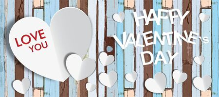 Happy Valentine Day vintage background