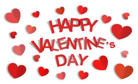 Happy Valentine Day white background