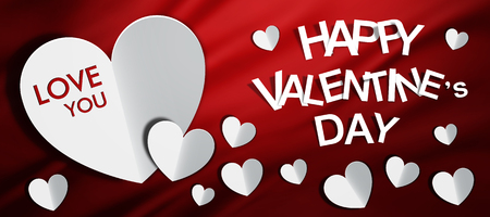 Happy Valentine Day, red background