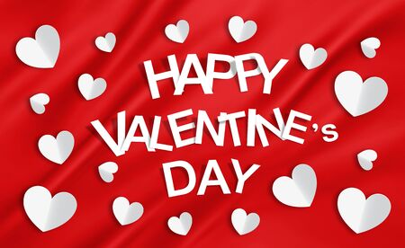 happy valentine day: Happy Valentine Day, red background