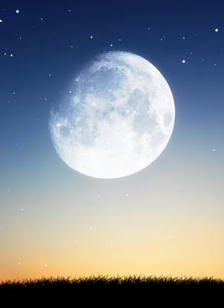 moon with sky background