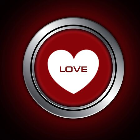 love button, happy valentine day