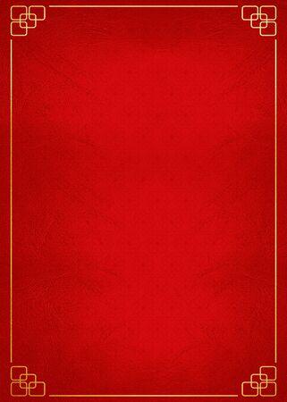 赤い背景と中国の背景 写真素材