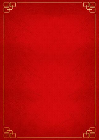 red background and chinese background