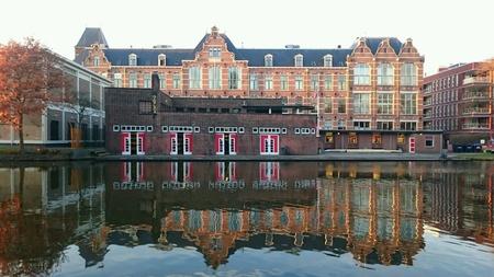 DSRV Laga, Delftsche Studenten Roei Vereeniging, Delftse studentenroeivereniging, Delfts Schie-kanaal Stockfoto