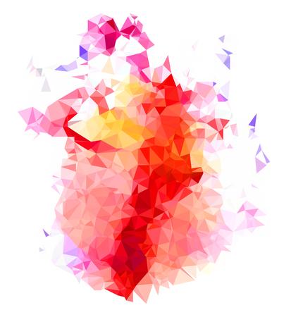 Abstract color splash shape. Çizim
