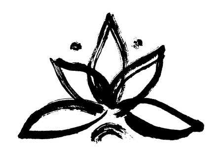 Lotus symbol vector illustration. Illustration