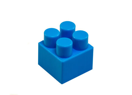 cubicle: blue cubicle piece of toy constructor
