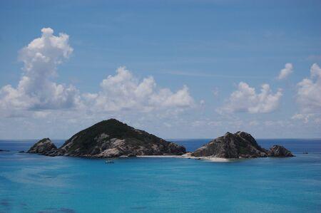 Uninhabited island of Tokashiki Island in southern Japan Stock Photo
