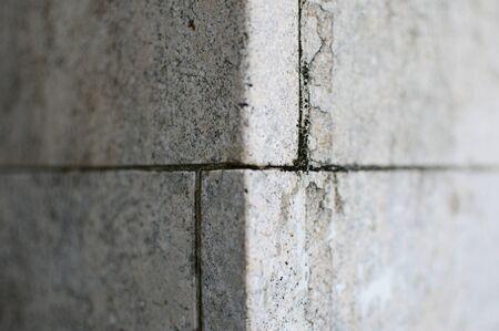 Concrete pillar corner light and shadow