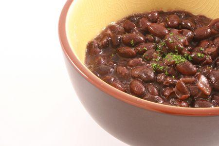 vegtables: black beans bowl organic an d healthy