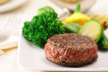 might: You might be tempted by this delicious beef fillet Stock Photo