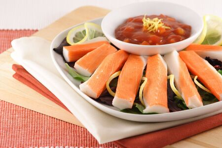 selected: delicious  and  healthy  appetizer made with organic selected ingredients Stock Photo