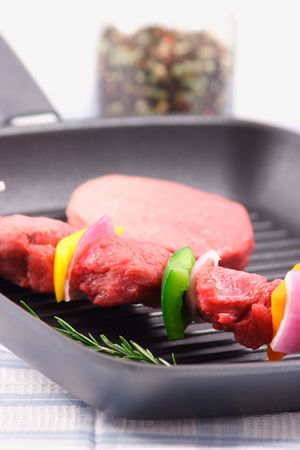 protein source: organic beef  raw and juicy ingredient  a perfect protein source Stock Photo