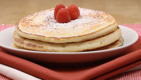 great looking organic pancakes with fresh fruits natural food for natural people photo