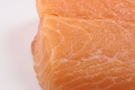 protein source: organic salmon   a juicy ingredient  and a  perfect protein source Stock Photo