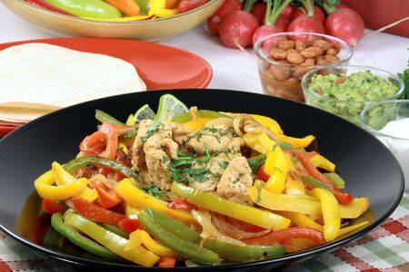 mexican fajitas made with delicious fresh ingredients one of  the most famous mexican plates   photo