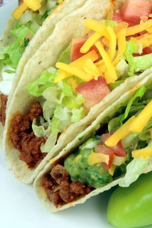 Delicious mexican tacos perfect appetizer meal or delicious snack     photo