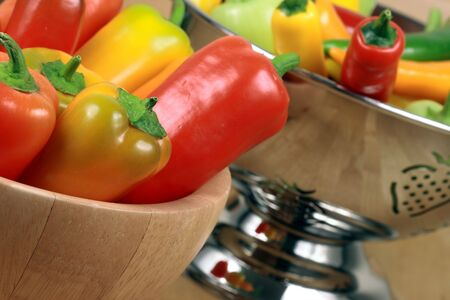 medium size: This fabulous medium  size peppers are  prized for the warm, burning sensation when eaten     Stock Photo
