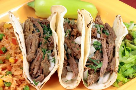 tacos: Delicious mexican tacos perfect appetizer meal or delicious snack