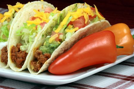 Köstliche mexican Tacos perfekt Aperitif Mahlzeit oder leckeren Imbiss