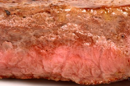 juicy beef grilled to perfection, thick and flavorful delicious steak    photo