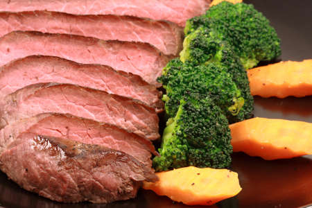 organic beef grilled to perfection to keep all the nutrients and flavors    photo