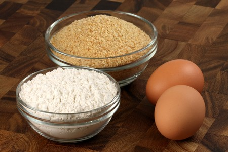 breading: breading ingredients used to make fried chicken  milanese chicken , nuggets and other delicious breaded foods