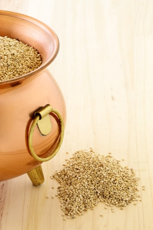 raw quinoa having the most complete proteins of any grain, it is also a great source of vitamins and minerals. Stock Photo - 10281920