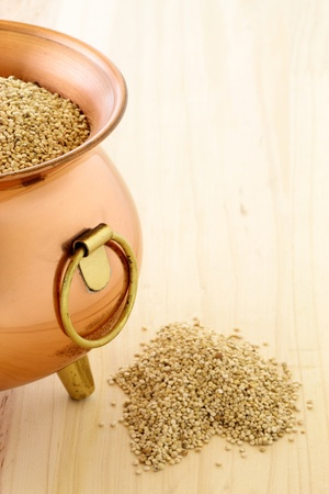 raw quinoa having the most complete proteins of any grain, it is also a great source of vitamins and minerals. Stock Photo - 10795664