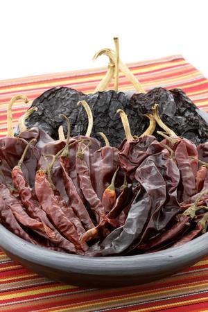 おいしい乾燥唐辛子メキシコ料理とフュージョン料理に最適です。これらの唐辛子のポッドはお好みの食事をホット スパイシーで風味豊かな感覚を 写真素材