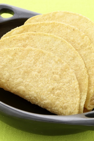 fresh and crunchy delicious mexican taco shells photo