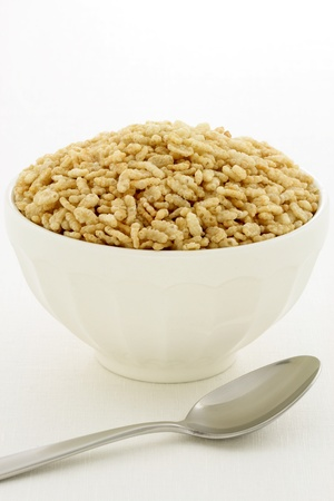 cafe au lait: Delicious and nutritious crisped rice cereal, served in a beautiful French Cafe au Lait Bowl
