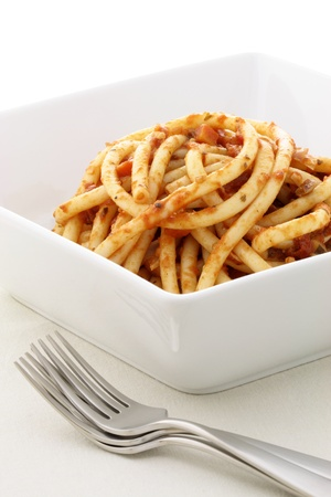 This dish is one of the most celebrated in Italian cuisine. Originating from the town of Amatrice (in the mountainous Province of Rieti of Lazio region). Stock Photo - 13153363