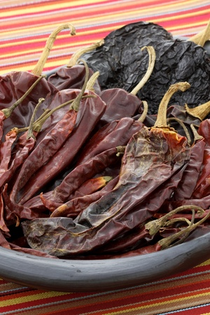 delicious dried chili peppers great for mexican food and fusion cuisine. these chili pods will leave a hot spicy and flavorful sensation to your favorite meals. photo