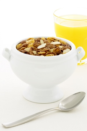 delicious and healthy chocolate muesli or granola, great nutritious food with lots of nuts and grains. photo