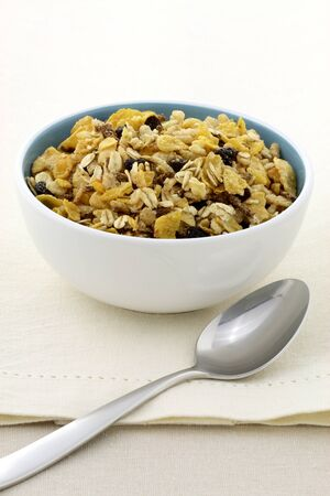 delicious and healthy granola or muesli, with lots of dry fruits, nuts and grains. photo