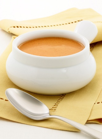 croutons: Smooth, creamy and  highly-seasoned french lobster bisque, this delicious cream soup of french origin is a classic, and can be made from lobster, crab, shrimp or crayfish.