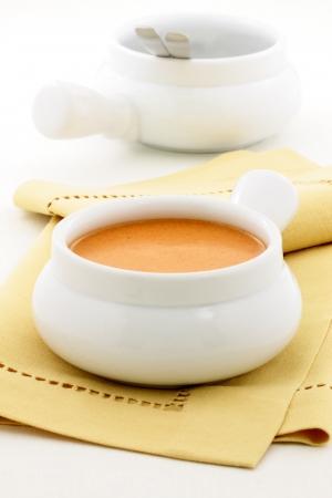 滑らか、クリーミーな非常に味付けしたフランス ロブスタービスク、フランス語起源のこのおいしいクリーム スープ、古典的なあり、ロブスター、 写真素材