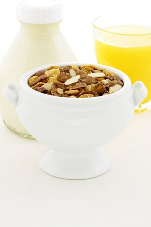 delicious and healthy chocolate muesli or granola, great nutritious food with lots of nuts and grains. Stock Photo - 13707874